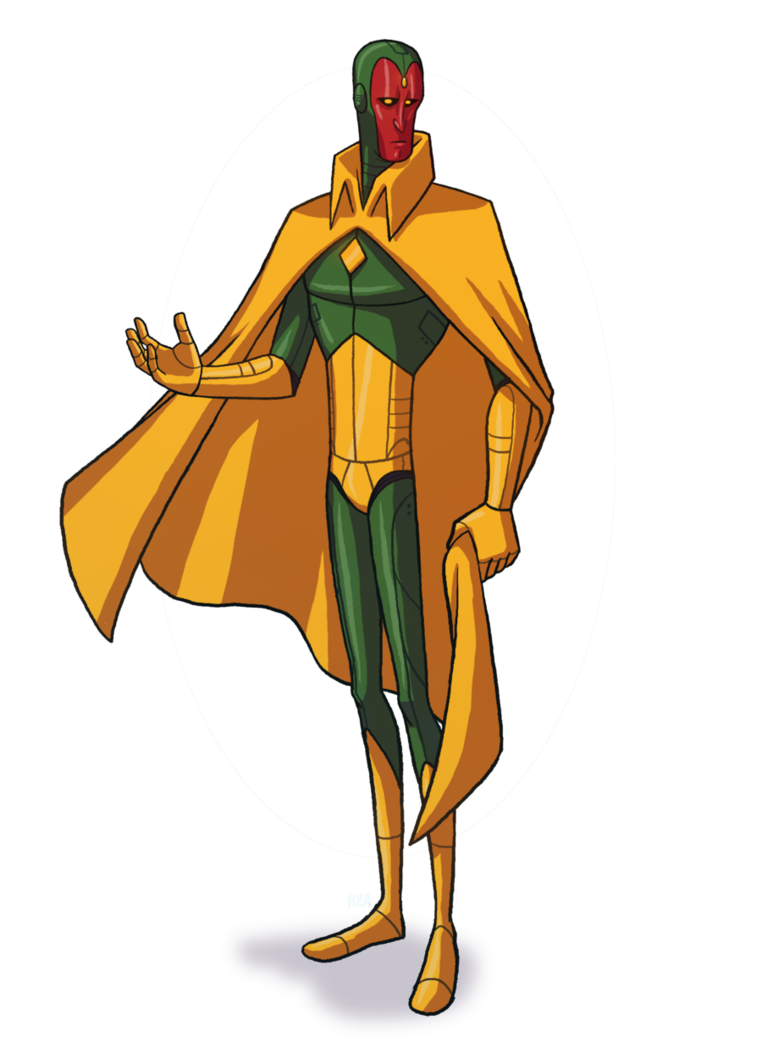 Vision clipart cartoon. Marvel by h a