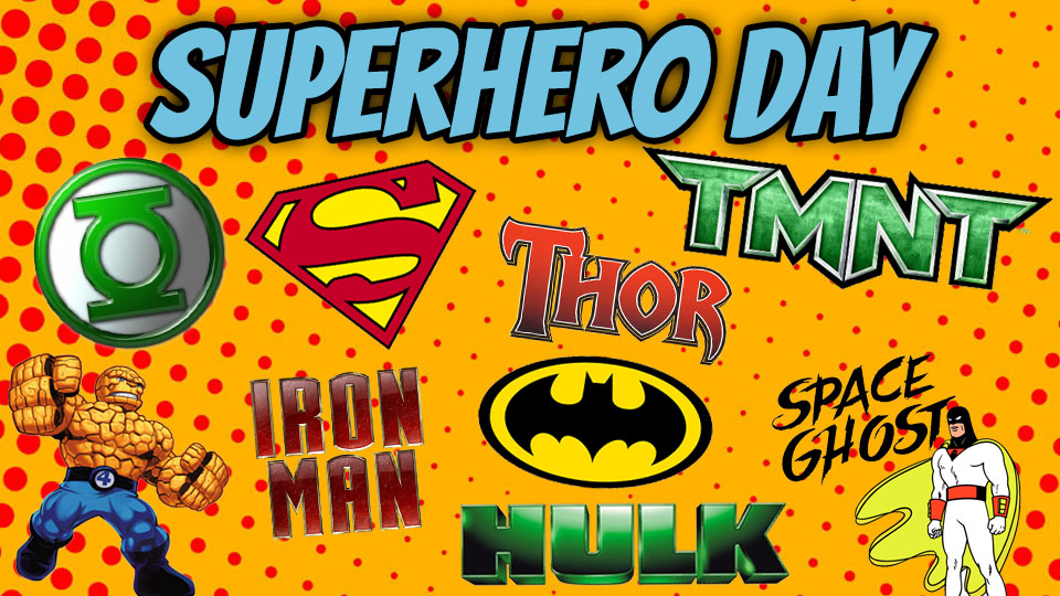 Image result for superhero day clip art