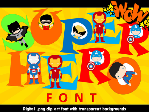 Super font clip art. Hero clipart superhero themed