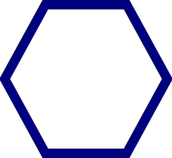 Blue clip art at. Hexagon clipart