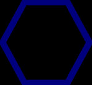 Hexagon clipart. Shape clip art panda