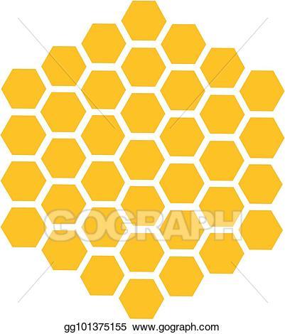 Honeycomb clipart hexagon. Vector stock bee honey