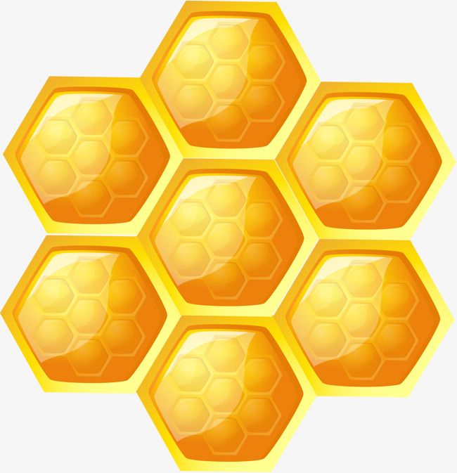 Cellular hexagonal vector yellow. Honeycomb clipart hexagon