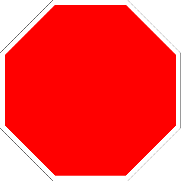Hexagon clipart blank. File stop sign octagon