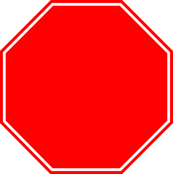 Stop sign panda free. Hexagon clipart blank