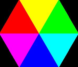Color clip art at. Hexagon clipart cartoon