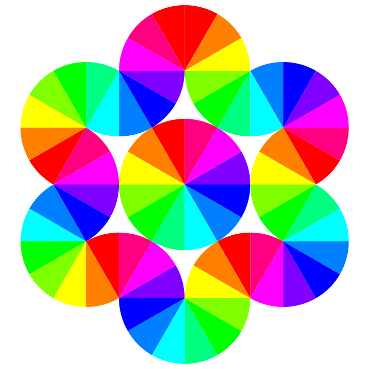color pie by. Hexagon clipart hexagon object