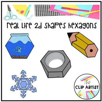 Real life objects d. Hexagon clipart hexagon object