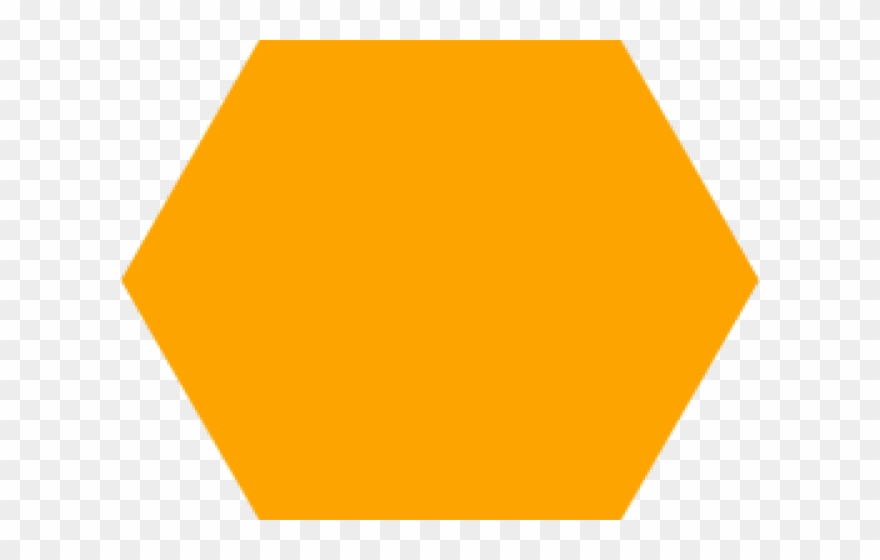 Hexagon clipart hexagon object. Orange big png transparent