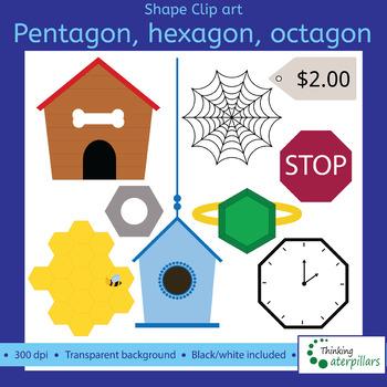 Pentagon octagon d clip. Hexagon clipart hexagon object