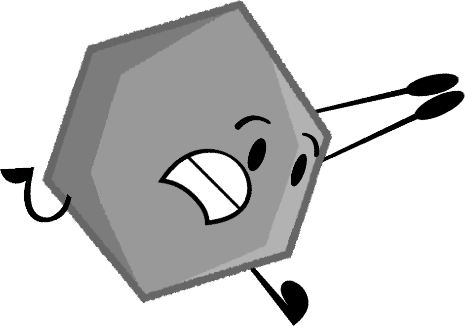 Hexagon clipart hexagon object. Image grey pose png
