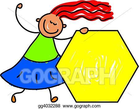 Stock illustration illustrations . Hexagon clipart kid