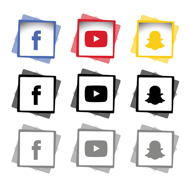 Icons set icon png. Tree clipart social media