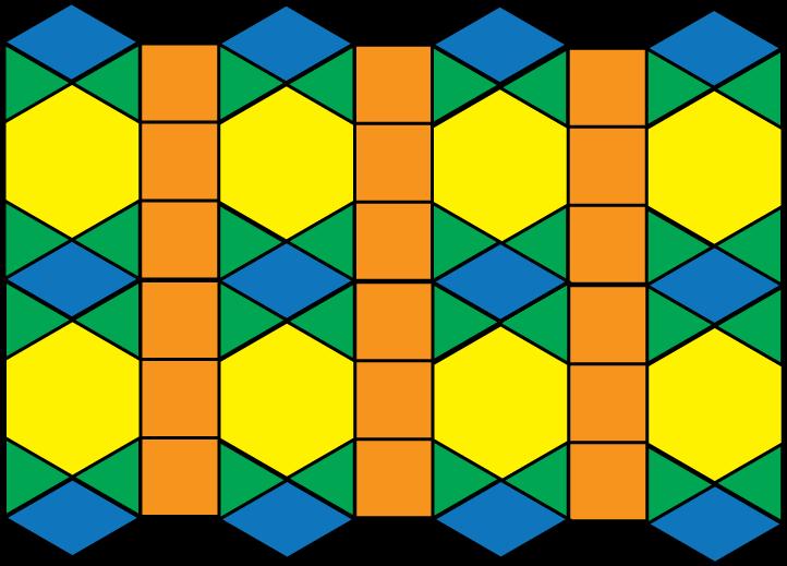 Clip art tessellation pattern. Hexagon clipart math