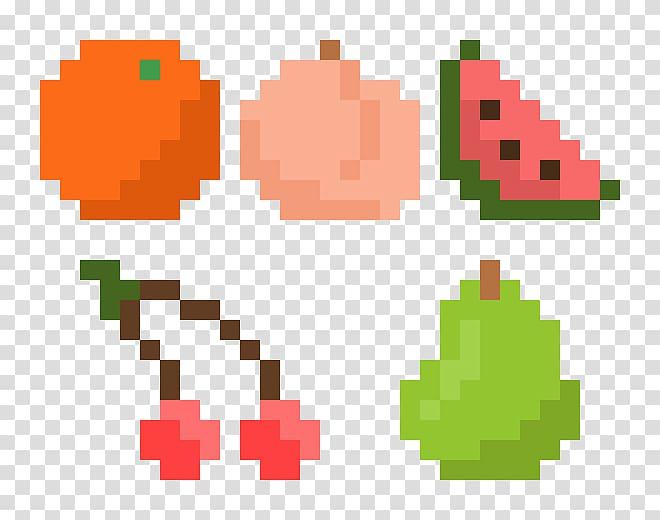 Hexagon clipart pixel art. C fruit transparent background
