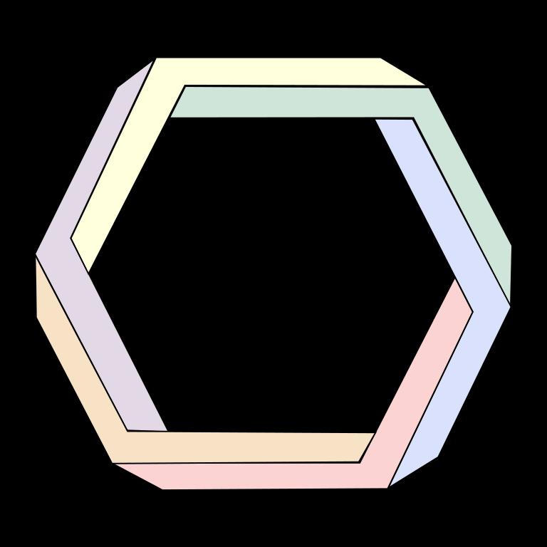 Hexagon clipart pixel art. File penrose svg wikimedia