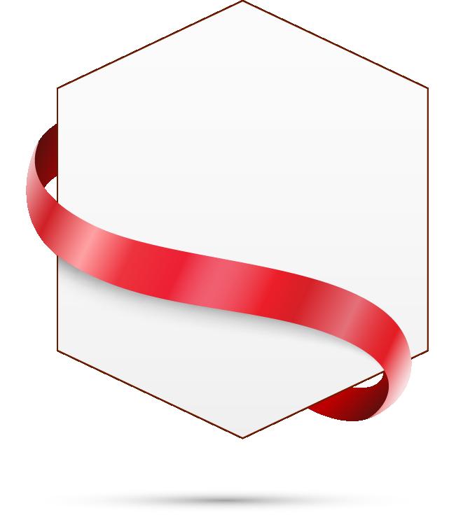 Hexagon clipart rectangular. Text box ribbon transprent