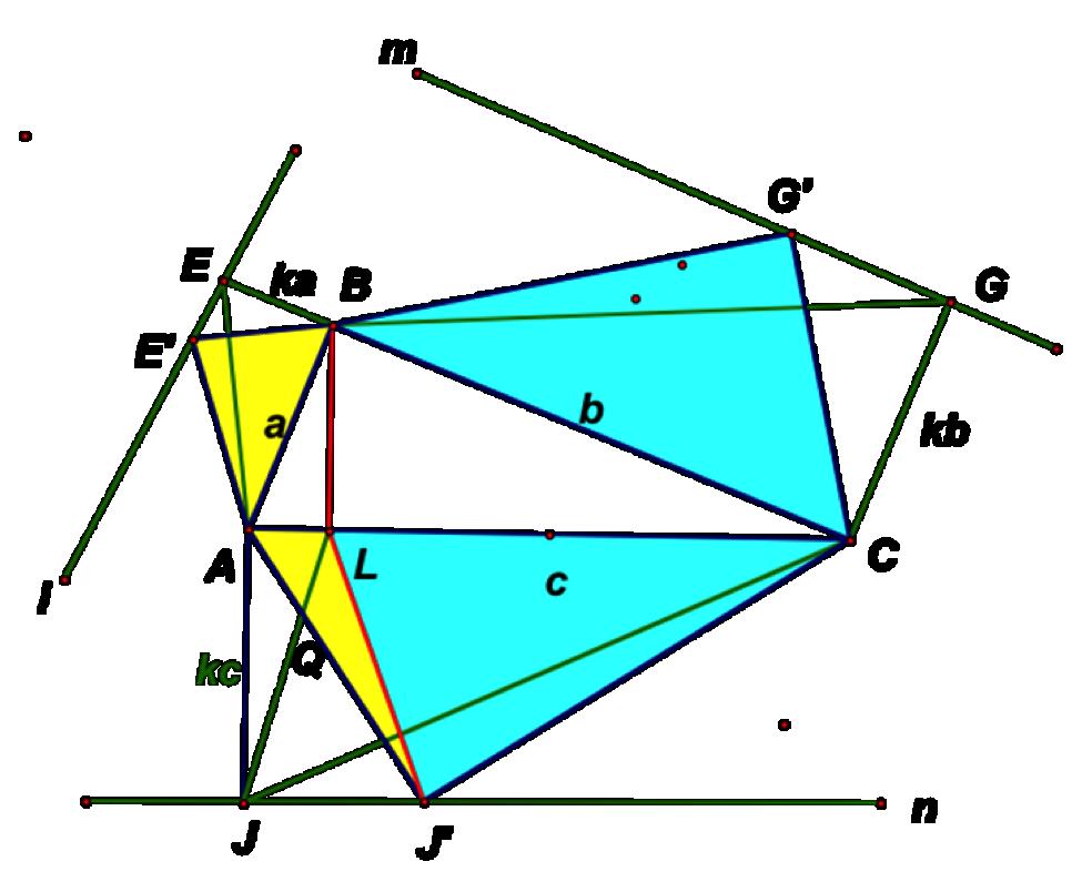 Hexagon clipart two pair congruent side. Pythagorean cuts figure similar