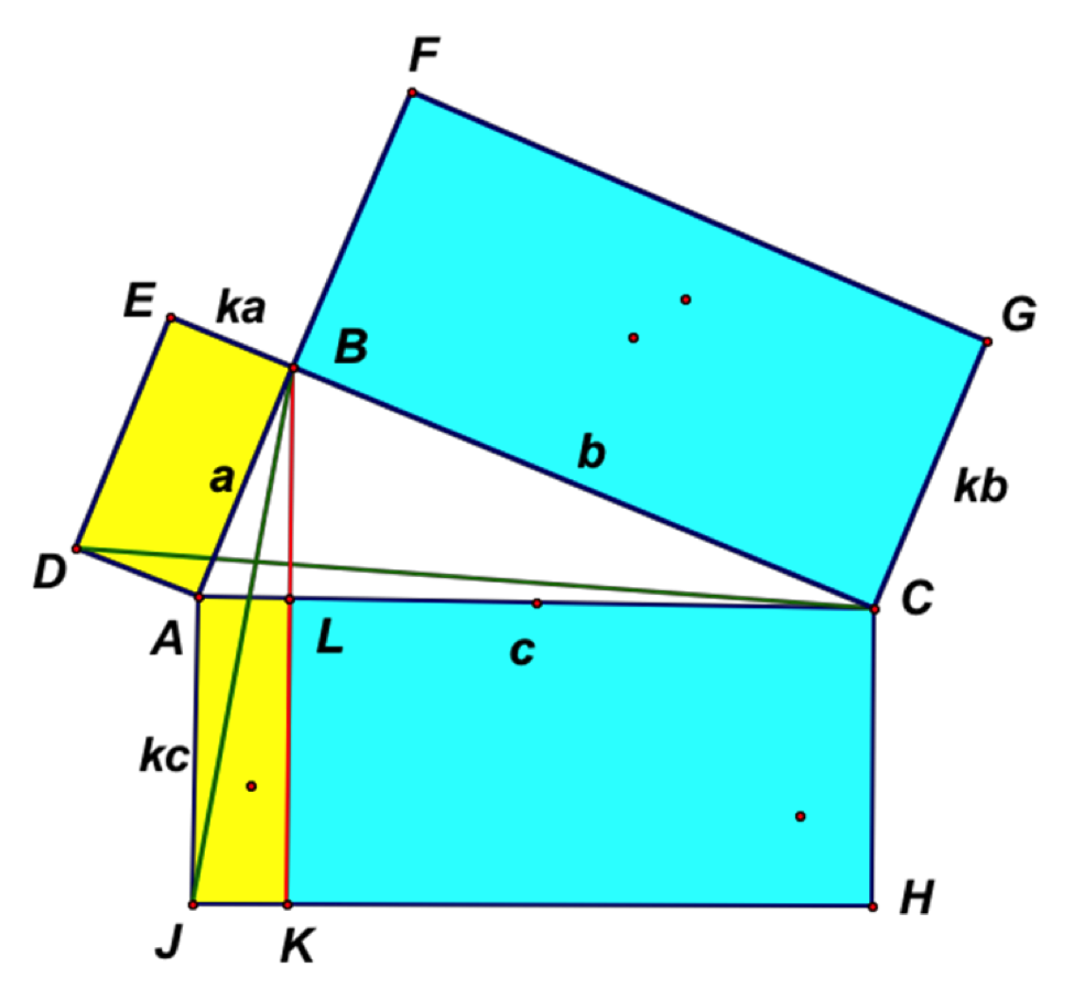 Hexagon clipart two pair congruent side. Pythagorean cuts can rectangle