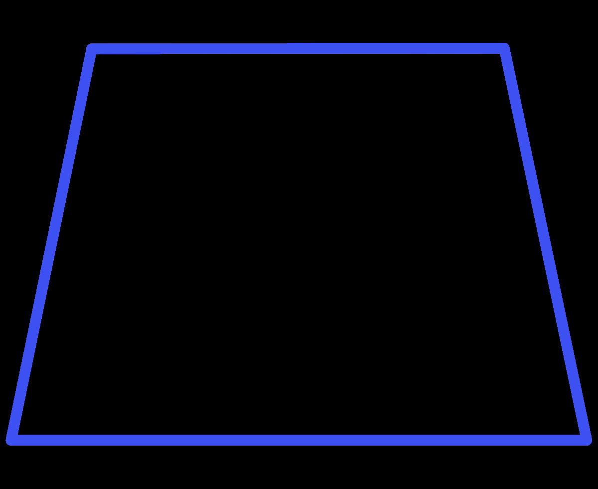 Isosceles trapezoid wikipedia . Hexagon clipart two pair congruent side