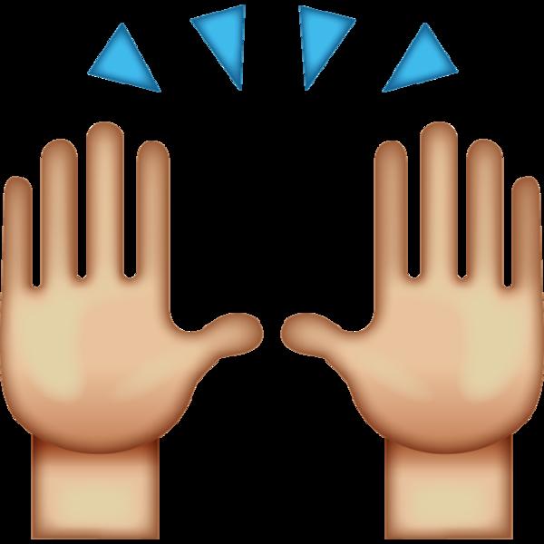 Hi clipart amiable. Download high five emoji