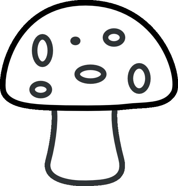 Mushroom black and white. Mushrooms clipart silhouette