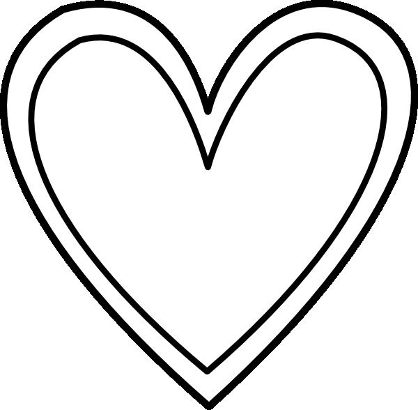 Hi clipart double. Heart outline clip art