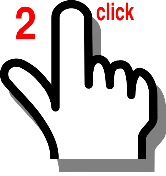 Finger click clip art. Hi clipart double