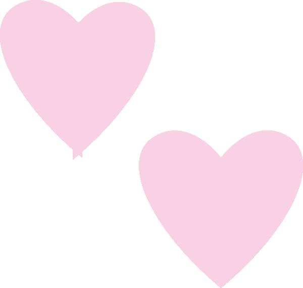 Hi clipart double. Light pink hearts clip