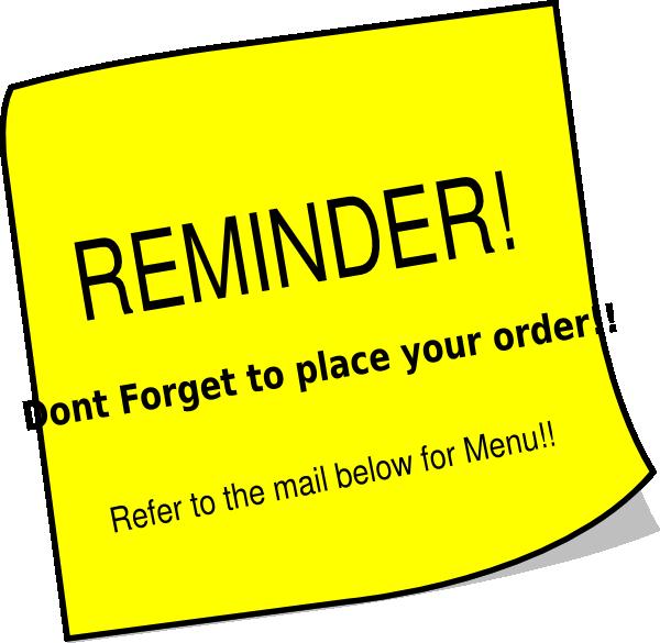 Mail clipart reminder. Clip art at clker