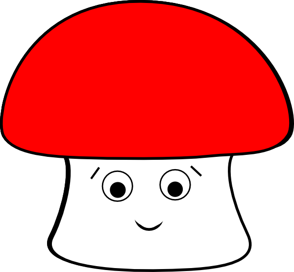 Mushrooms clipart vector. Happy mushroom clip art