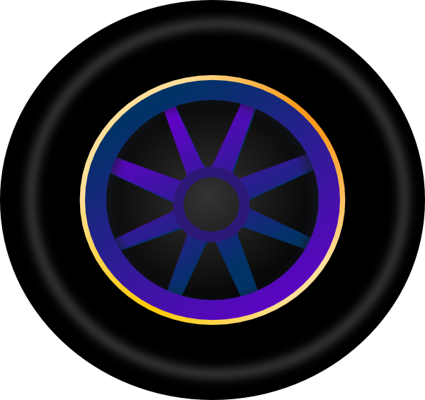 Navy clipart wheel. Neon rim clip art