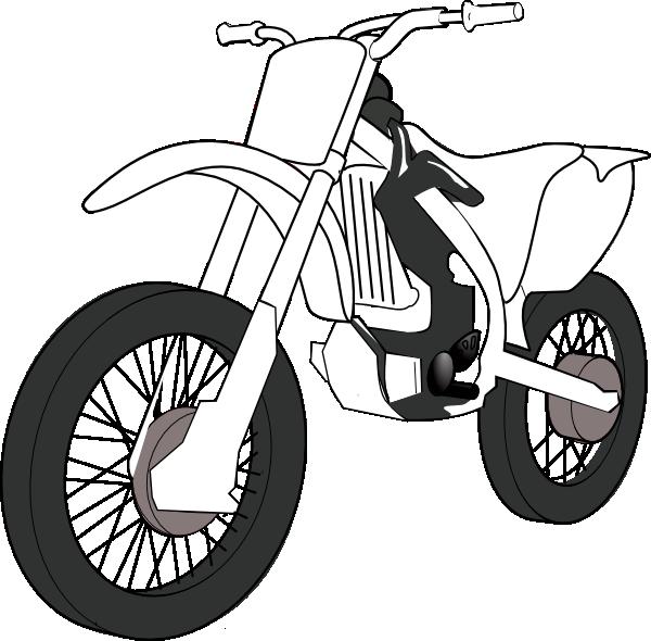 Black white motorcycle clip. Painter clipart car