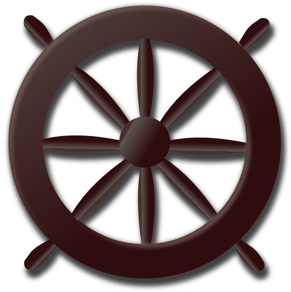 Old rowing clip art. Wheel clipart hue