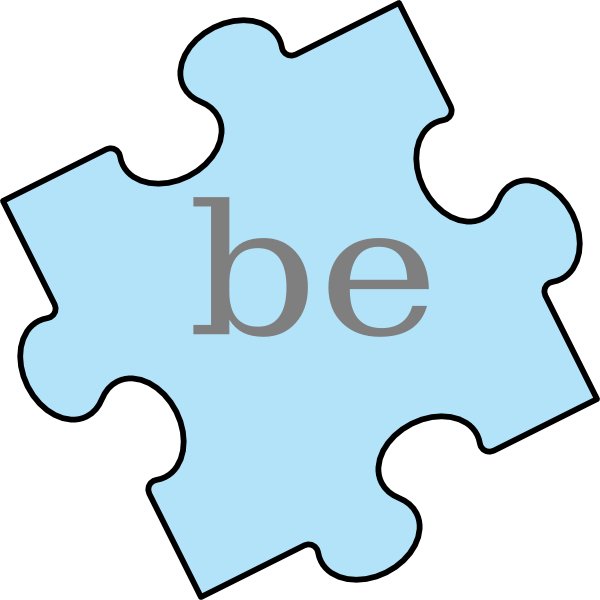 Puzzle piece be clip. Name clipart word