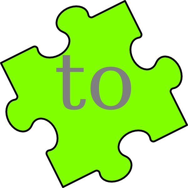 Puzzle piece to clip. R clipart word