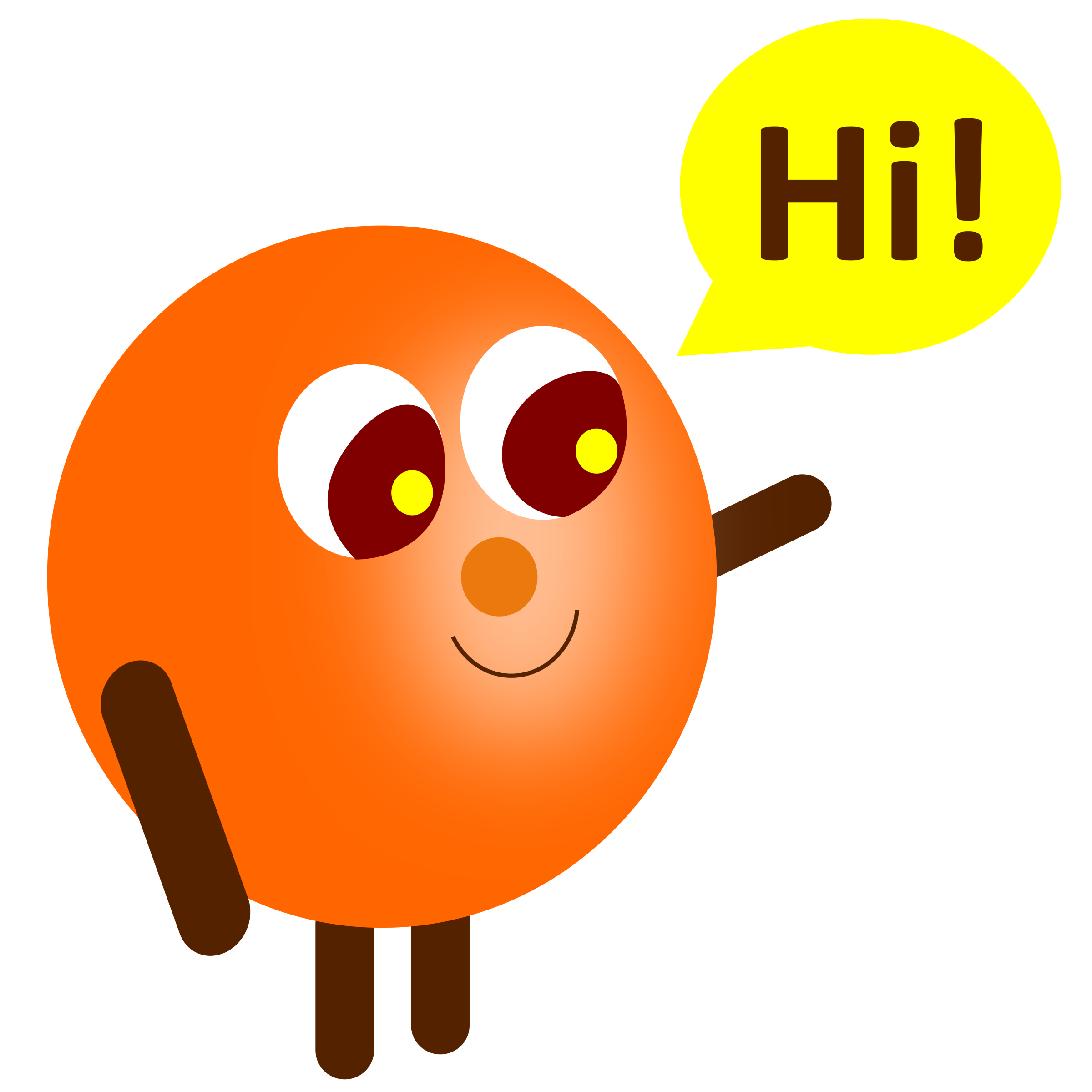 Hi clipart. Simple character and a