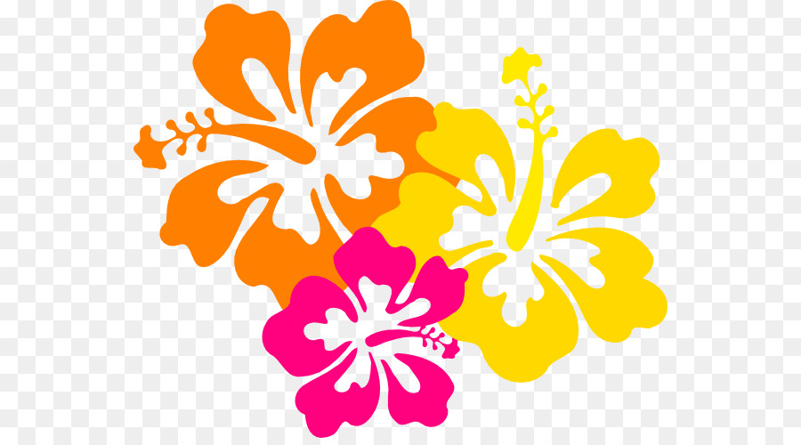 Hibiscus clipart. Hawaiian flower clip art