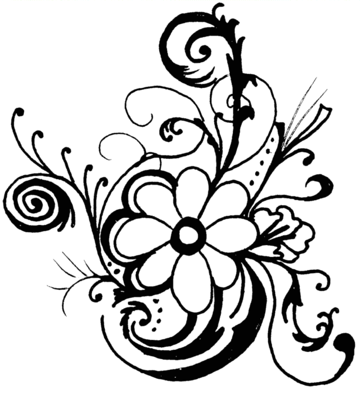 Hibiscus clipart black and white. Free images pictures download