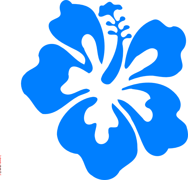 Clip art at clker. Hibiscus clipart blue hibiscus