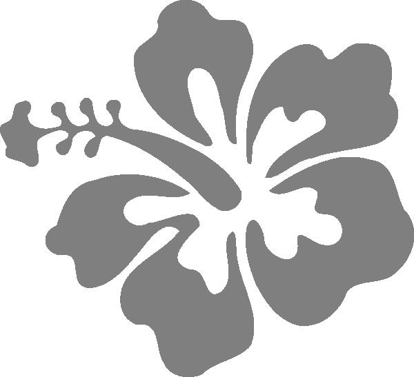 Hibiscus clipart casava. Grey single clip art