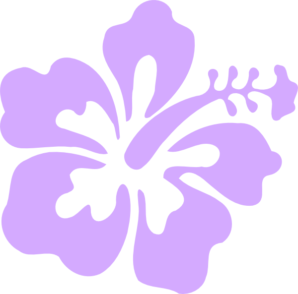Hibiscus clipart casava. Purple only clip art