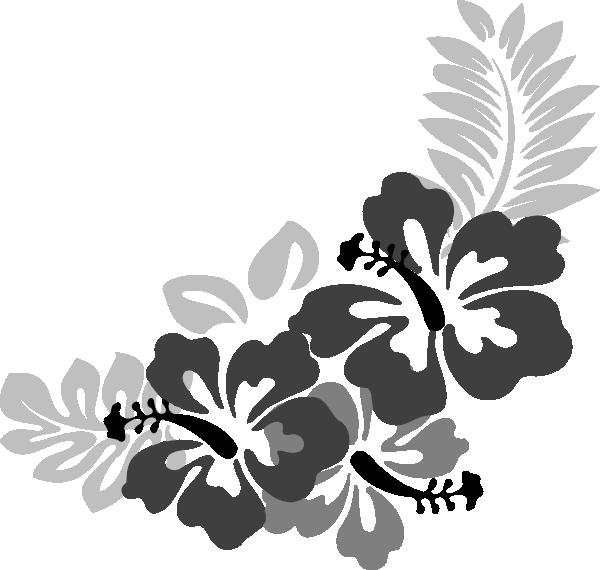 Grey clip art at. Hibiscus clipart casava