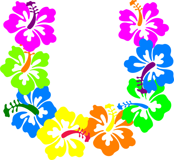 Hibiscus clipart colorful flower. Flowers clip art at