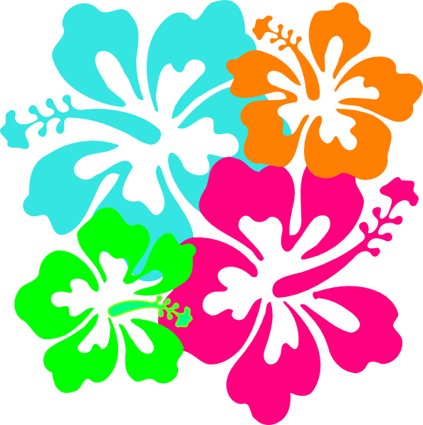 Hibiscus clipart colorful flower. Clip art at clker