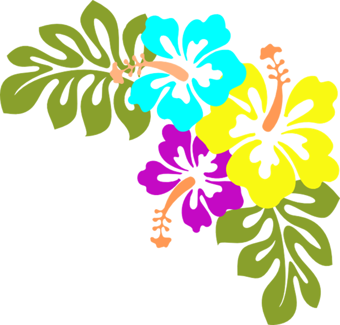 Hawaiian clipart island themed. Hibiscus yellow clip art