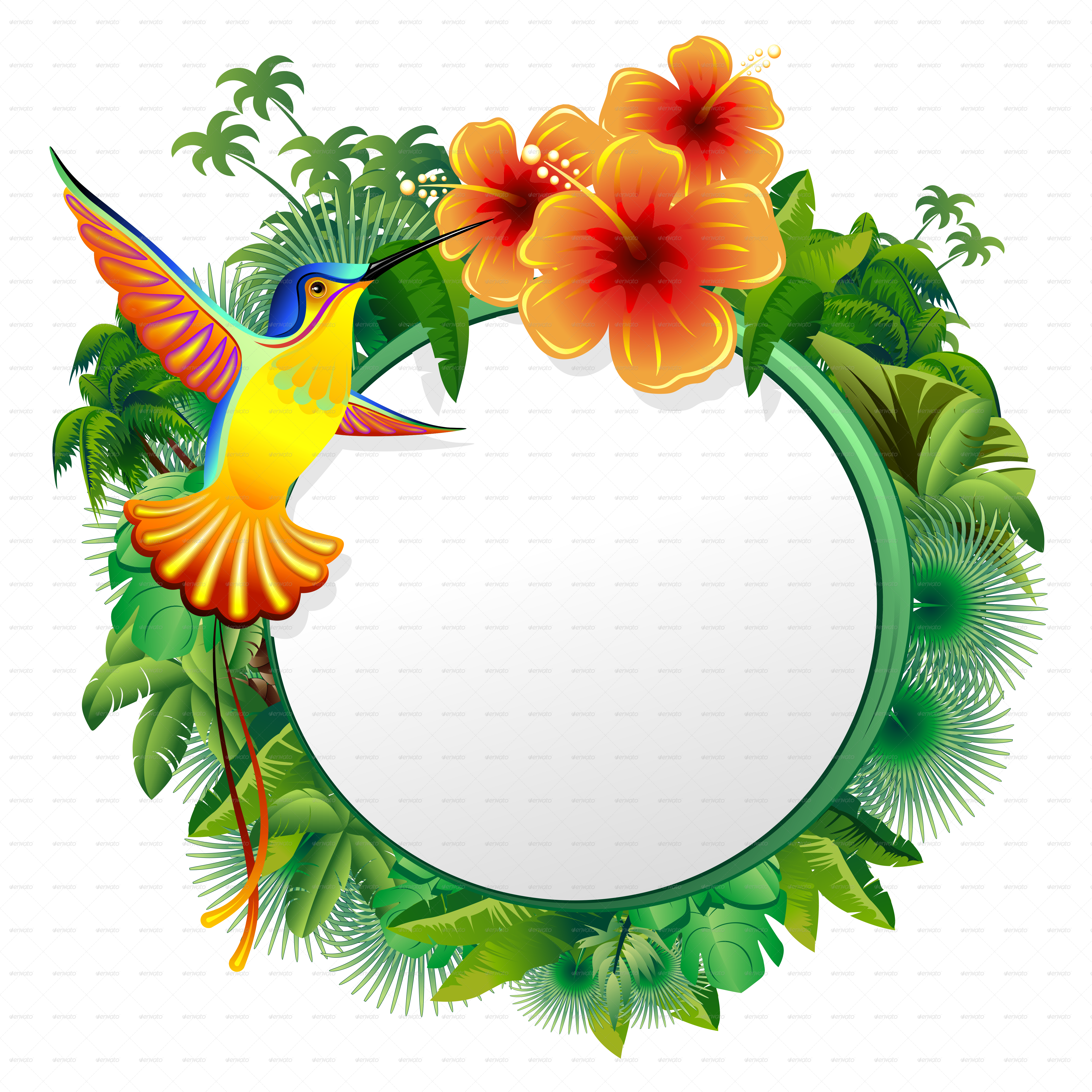 Hummingbird clipart jungle flower. Exotic designs by bluedarkat