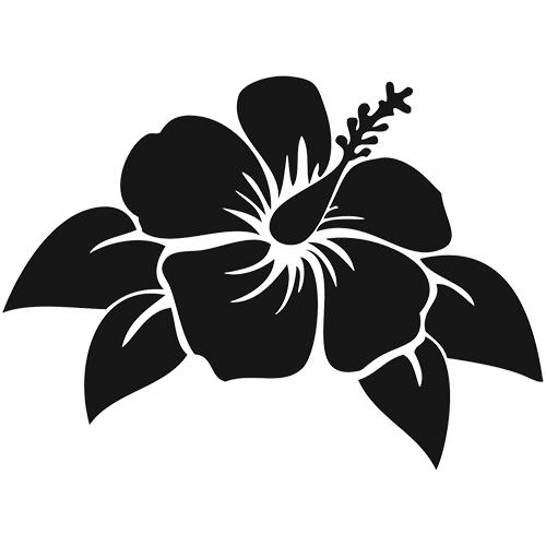 Hibiscus clipart island flower. Die cut vinyl decal