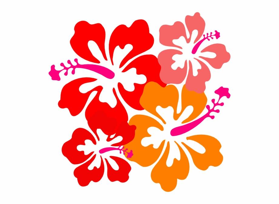 Hibiscus clipart jaba. Red hawaiian flower