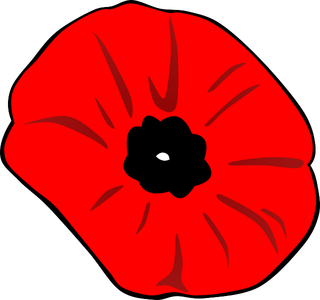 Poppy clipart one. Flower animated black and